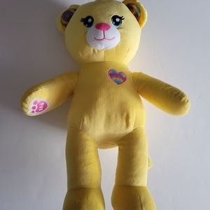 Build a Bear Yellow with tie dyed paws Bear